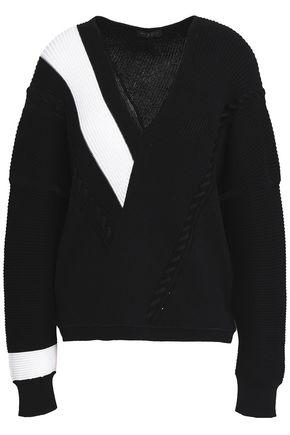 RAG & BONE Cricket two-tone ribbed cotton sweater