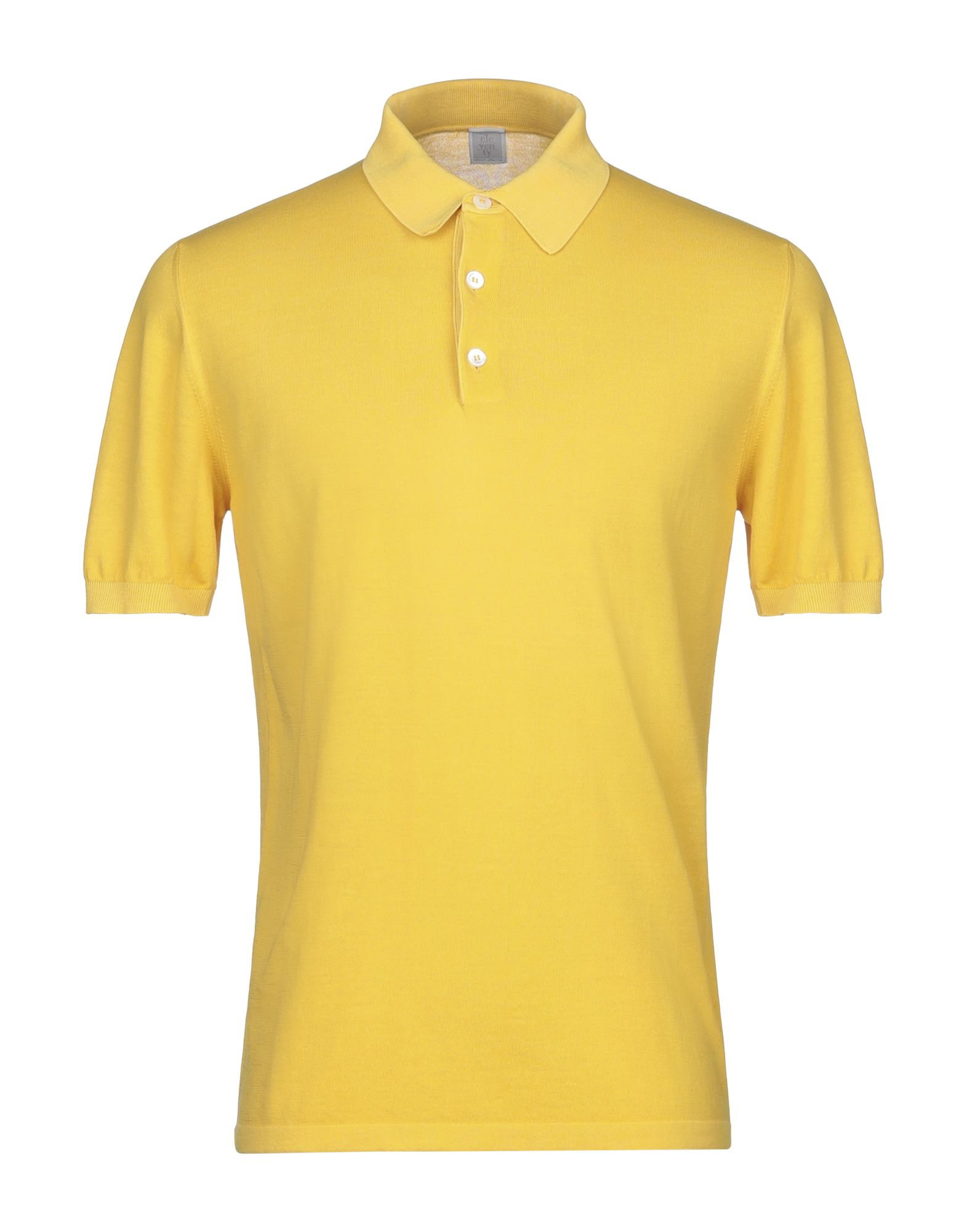 ELEVENTY Polo shirts. jersey, no appliqués, basic solid color, polo collar, short sleeves, front closure, button closing, no pockets, side slit hemline, small sized. 100% Cotton