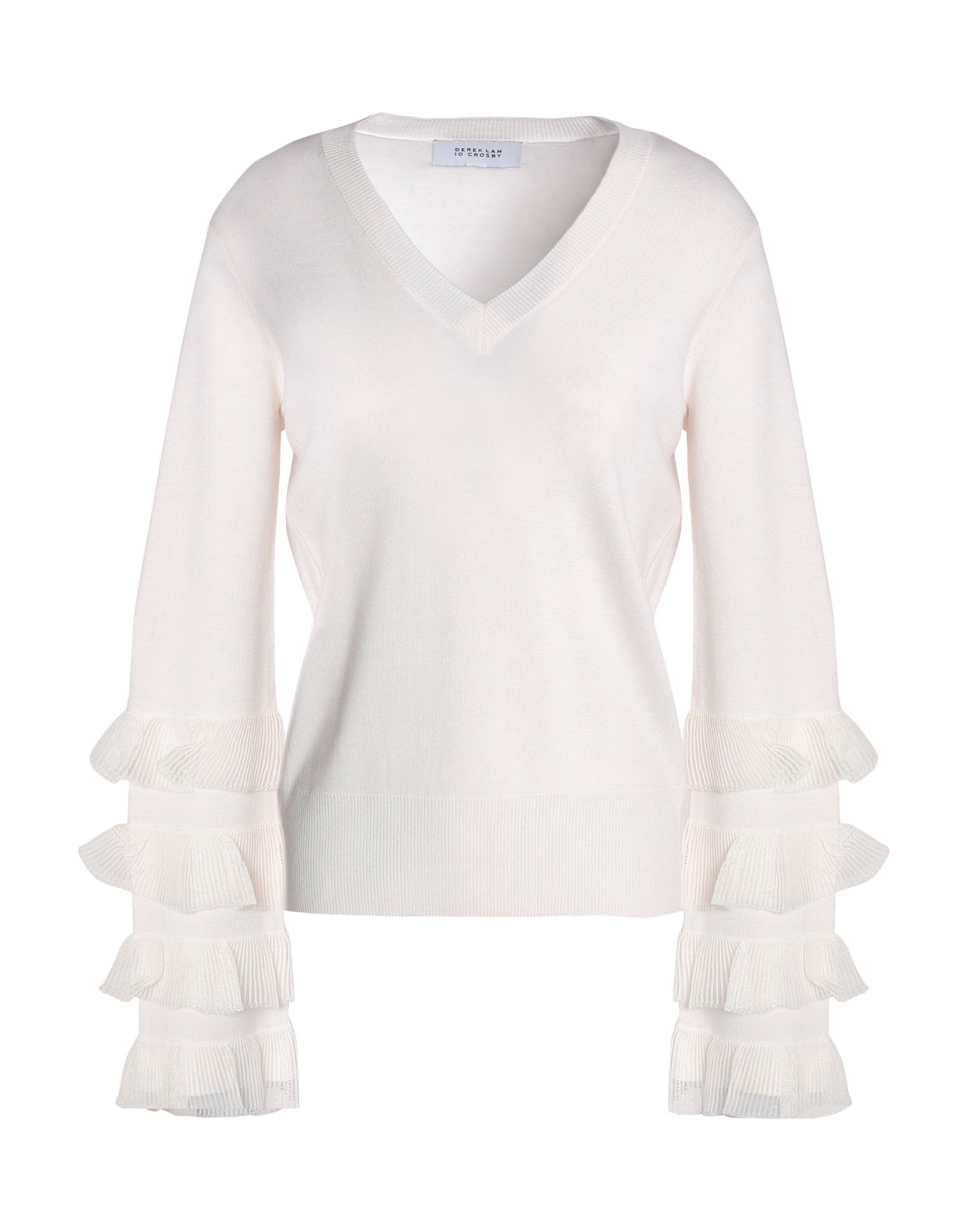 DEREK LAM 10 CROSBY Свитер simple scoop neck sleeveless pleated solid color dress for women