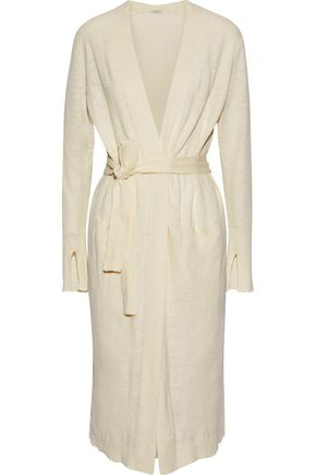 HALSTON HERITAGE Cotton and linen-blend cardigan