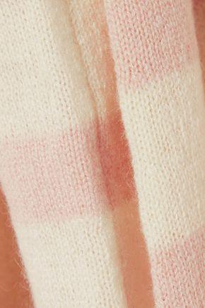 AUTUMN CASHMERE Tie-detailed striped cashmere sweater