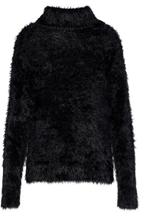 RTA Anouk faux fur turtleneck sweater