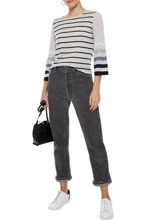 AUTUMN CASHMERE Striped cashmere top