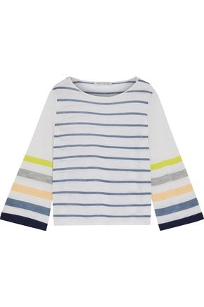 AUTUMN CASHMERE Striped cashmere top