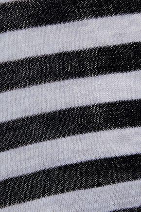 AUTUMN CASHMERE Striped cotton-jersey tank