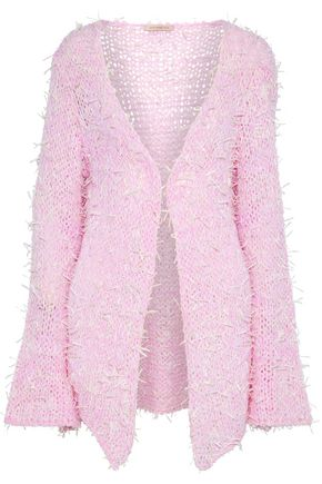 CHRISTOPHER KANE Fringed open-knit cardigan