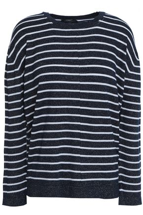 PIAZZA SEMPIONE Striped wool-blend sweater