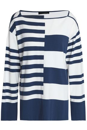 PIAZZA SEMPIONE Striped jersey top