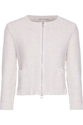 COTTON by AUTUMN CASHMERE Basketweave cotton cardigan