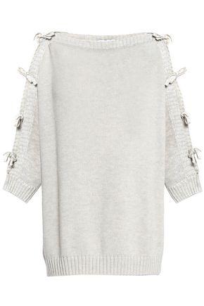 AUTUMN CASHMERE Tie-detailed cotton sweater