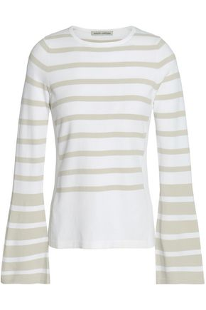 AUTUMN CASHMERE Striped knitted sweater