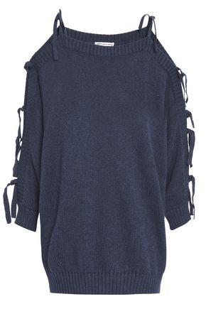 AUTUMN CASHMERE Cutout cotton sweater
