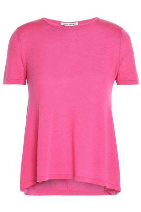 AUTUMN CASHMERE Ruched cutout cashmere top