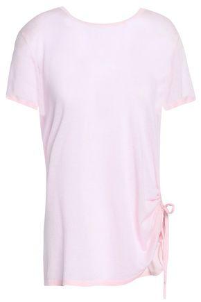 AUTUMN CASHMERE Ruched cotton top