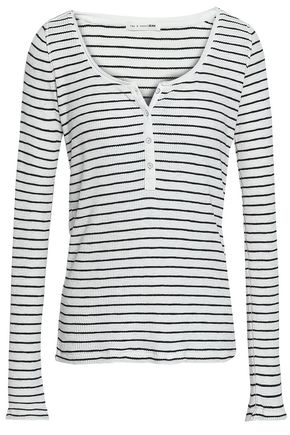 RAG & BONE Striped cotton-jersey top
