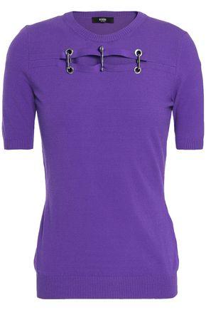 VERSUS VERSACE Embellished stretch-knit top