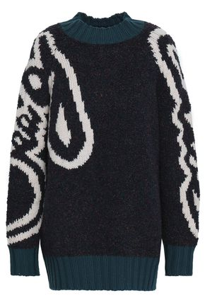 SEE BY CHLOÉ Intarsia bouclé sweater