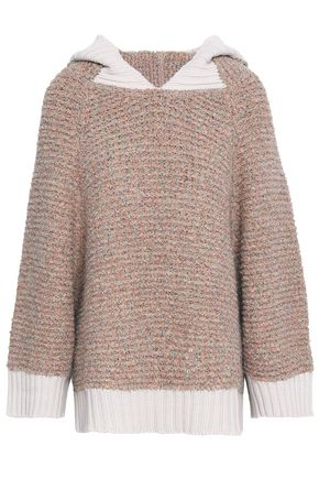 SEE BY CHLOÉ Bouclé-knit hooded sweater