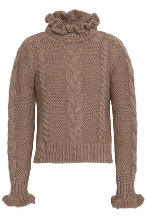 SEE BY CHLOÉ Cable-knit wool turtleneck sweater