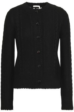 b7bd2651 Lace-paneled cable-knit sweater | SEE BY CHLOÉ | Sale up to ...