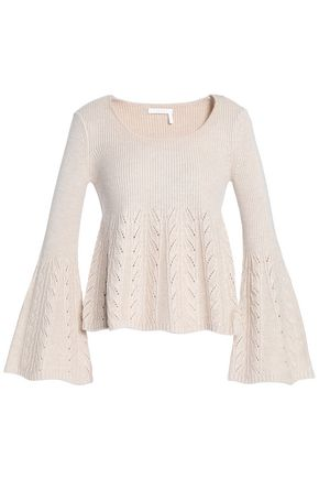 SEE BY CHLOÉ Pointelle-knit wool sweater