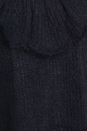 SEE BY CHLOÉ Ruffled pointelle-knit mohair-blend sweater