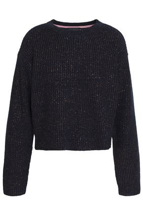 RAG & BONE Metallic ribbed merino wool-blend sweater