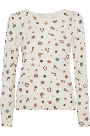 JOIE Abilene printed cashmere sweater