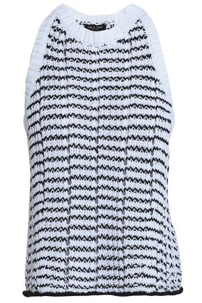 RAG & BONE Two-one cotton-blend knitted top