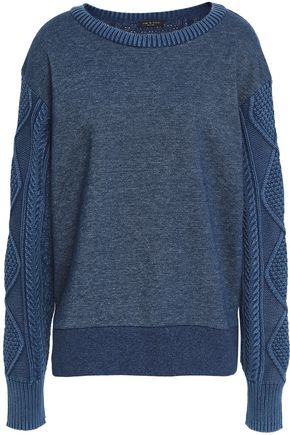 RAG & BONE Paneled cotton-blend sweater