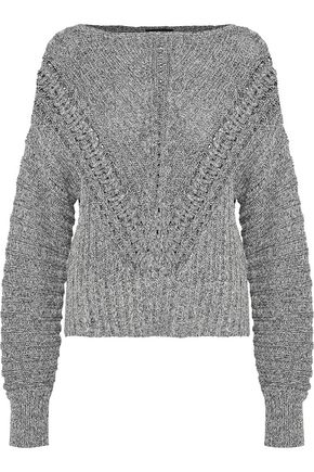 RAG & BONE Roman marled open-knit cotton sweater