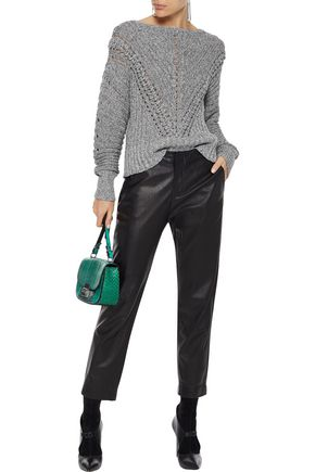 RAG & BONE Roman marled open-knit cotton sweater