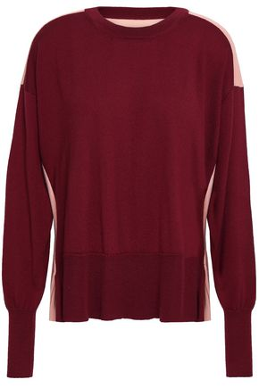 MM6 MAISON MARGIELA Two-tone wool and cotton-blend sweater