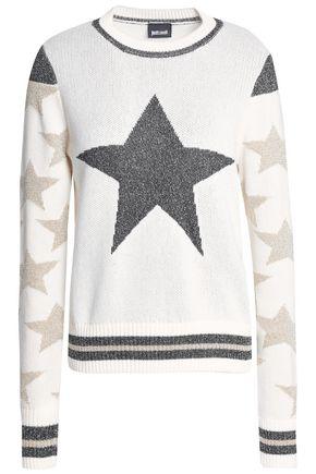 JUST CAVALLI Cotton-blend jacquard sweater