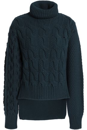 MM6 MAISON MARGIELA Wool-blend cable-knit turtleneck sweater