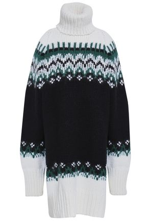 MM6 MAISON MARGIELA Jacquard-knit turtleneck sweater