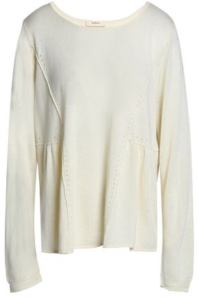 BA&SH Gathered silk and cashmere-blend sweater