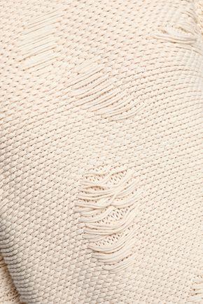 BA&SH Distressed cotton-jacquard sweater