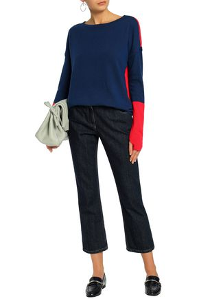 DUFFY Two-tone cashmere sweater
