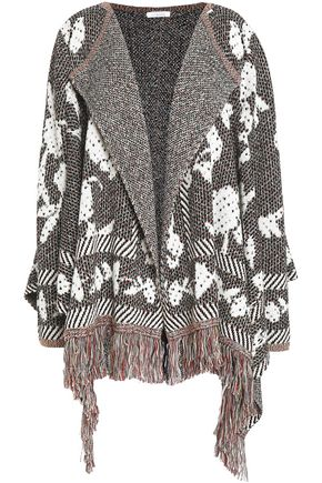 SEE BY CHLOÉ Fringe-trimmed jacquard-knit cardigan
