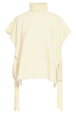 SEE BY CHLOÉ Lace-up wool turtleneck poncho