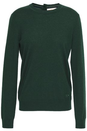 TORY BURCH Embroidered cashmere sweater
