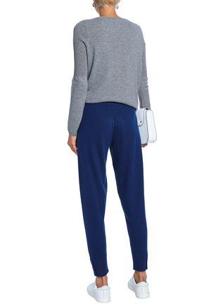 DUFFY Mélange cashmere track pants