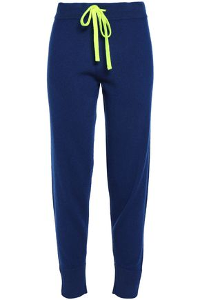 DUFFY Neon-trimmed cashmere track pants