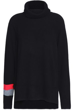DUFFY Striped cashmere turtleneck sweater