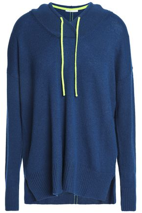 DUFFY Neon-trimmed cashmere hoodie