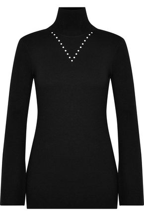ELLERY Austell studded stretch-knit turtleneck sweater