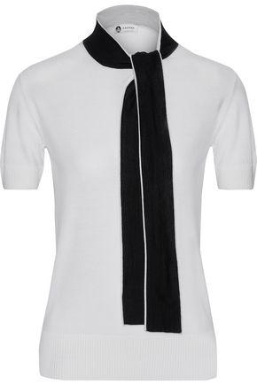 LANVIN Two-tone wool-blend top