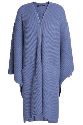 DEREK LAM Ribbed cashmere and silk-blend poncho