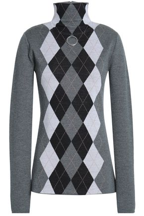 STELLA McCARTNEY Argyle wool turtleneck sweater
